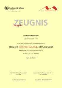 HIMS-Zertifikatszeugnis