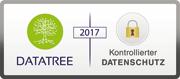 Siegel, das den Datenschutz präsentiert