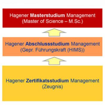 Stufen des Hagener Manegement Studium